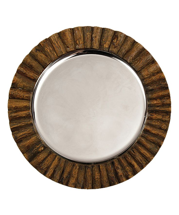Look at this #zulilyfind! Log Cabin Charger Plate by Napa Home & Garden…