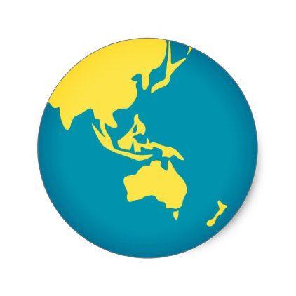 #Asian World Emoji Classic Round Sticker - #emoji #emojis #smiley #smilies