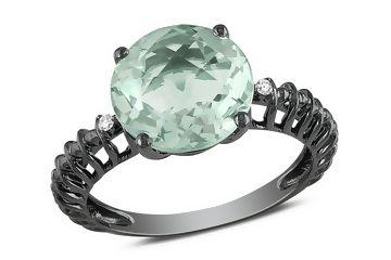 Love the black Rhodium setting!: Green Amethysts Rings, Diamond Rings, Style, Diamonds Rings, Fashion Rings, White Gold Rings, Jewelry, Amethysts Pairings, Engagement Rings
