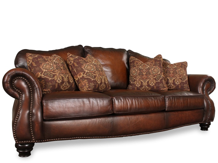 Bernhardt Chad Leather Sofa For The Home Pinterest