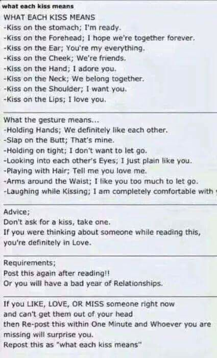 Kiss And Relationships