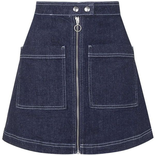 TOPSHOP MOTO Zip Front Skirt (460 GTQ) ❤ liked on Polyvore ...