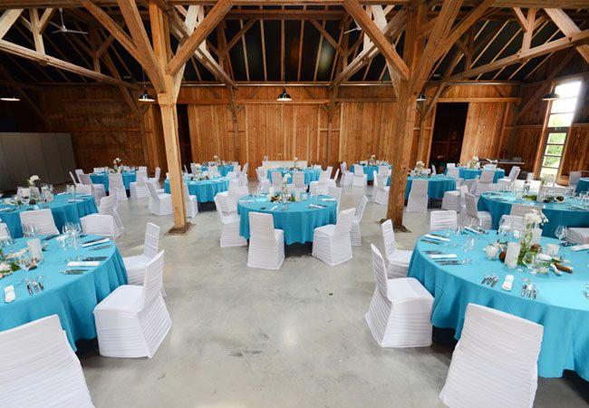 Wow - sehen unsere #Hussen und #aqua #Tischdecken nicht super im #Steinbachhof aus?