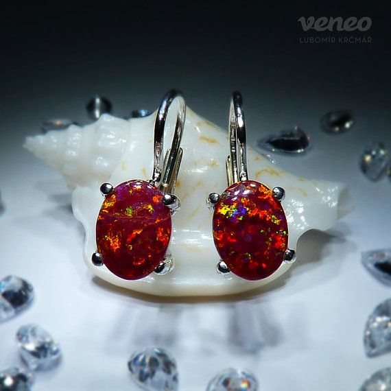 Ariana. Silver or Gold Opal Earrings all sizes by Veneo on Etsy, $59.00