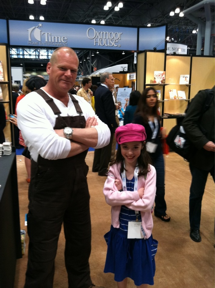 Piper meets Mike Holmes from Holmes on Homes at Book Expo America in NYC.  I missed him!