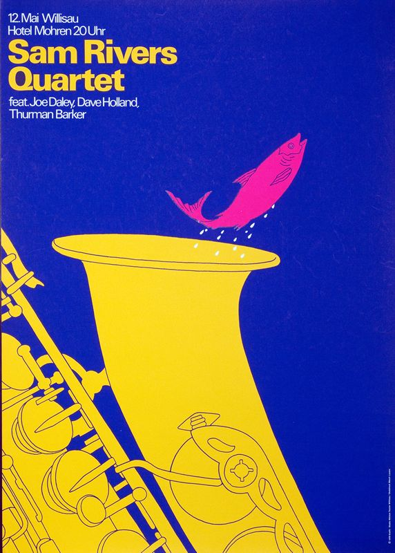 Sam Rivers Quartet by Troxler, Niklaus | Shop original vintage #posters online: www.internationalposter.com