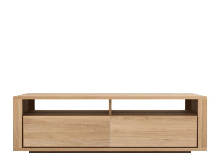 Ethnicraft Oak Shadow TV Cupboard - 2 Drawers