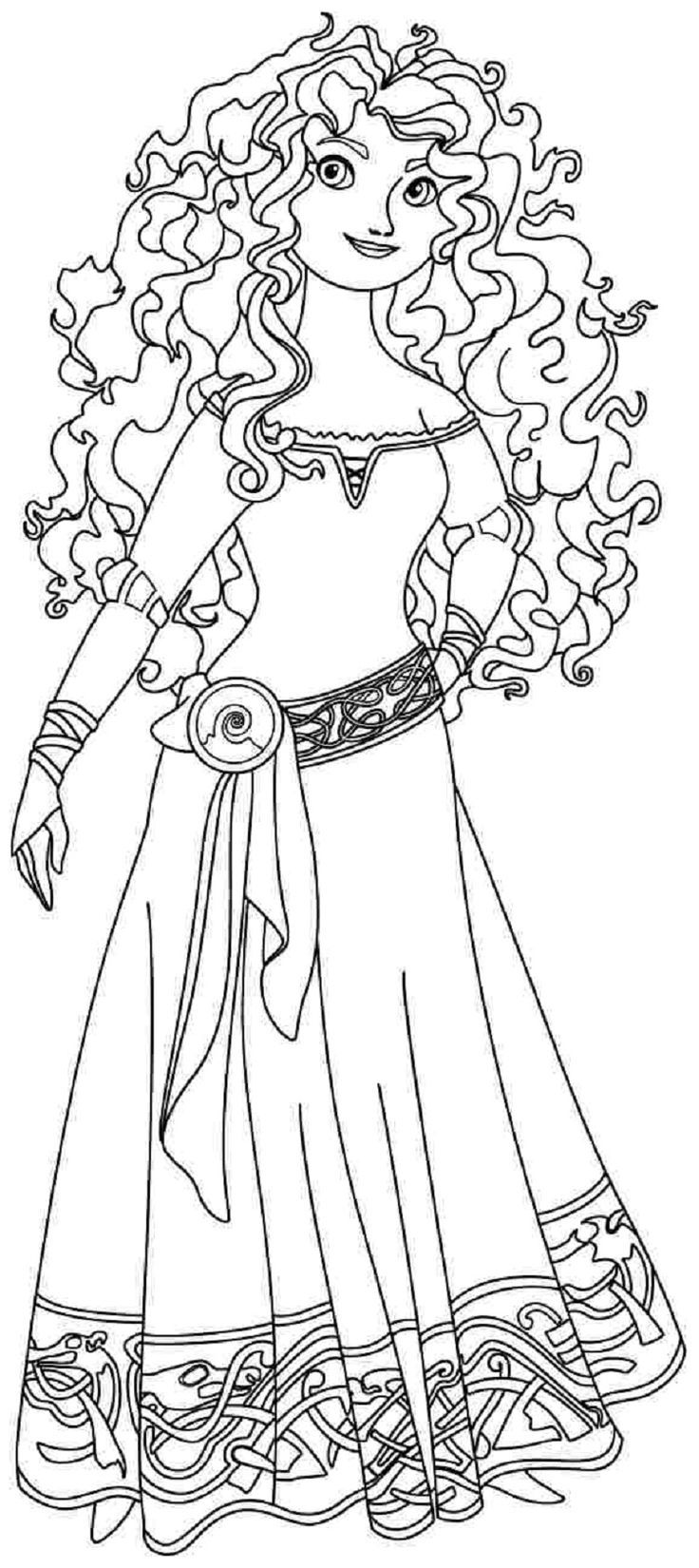 disney princess coloring pages merida | Adult Coloring Books + Pages ...