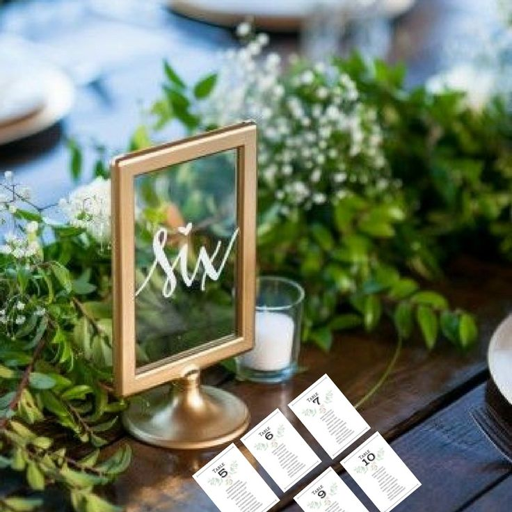 Wedding Table Seating Name Cards Rustic Floral.