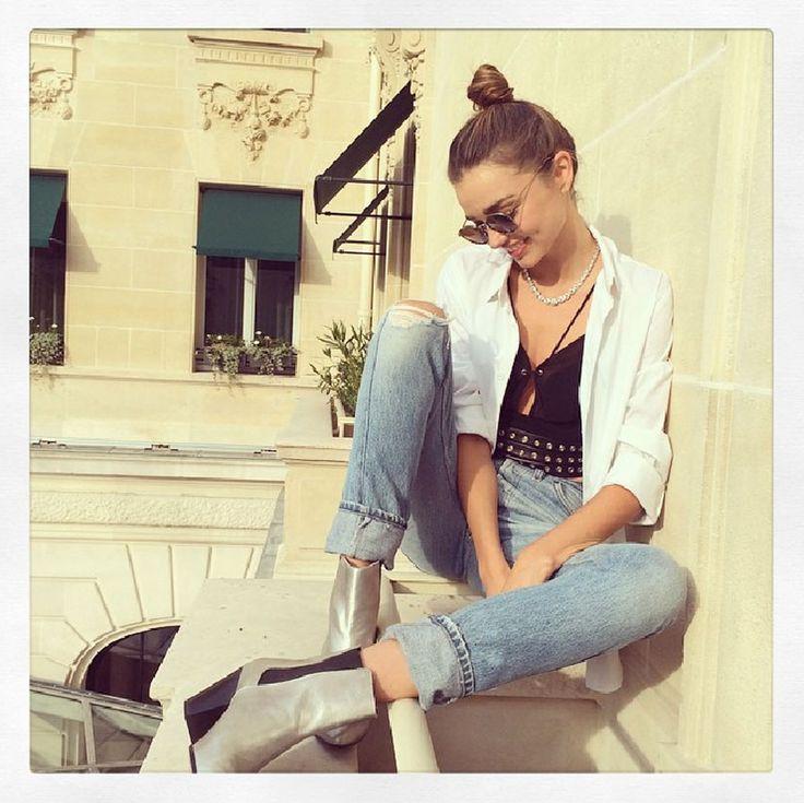 Copia il look di Miranda Kerr: la ragazza della porta accanto! #copia il look #fashion #moda #silhouettedonna http://www.silhouettedonna.it/moda/copia-il-look-moda/easy-look-miranda-kerr-la-ragazza-della-porta-accanto-49694/