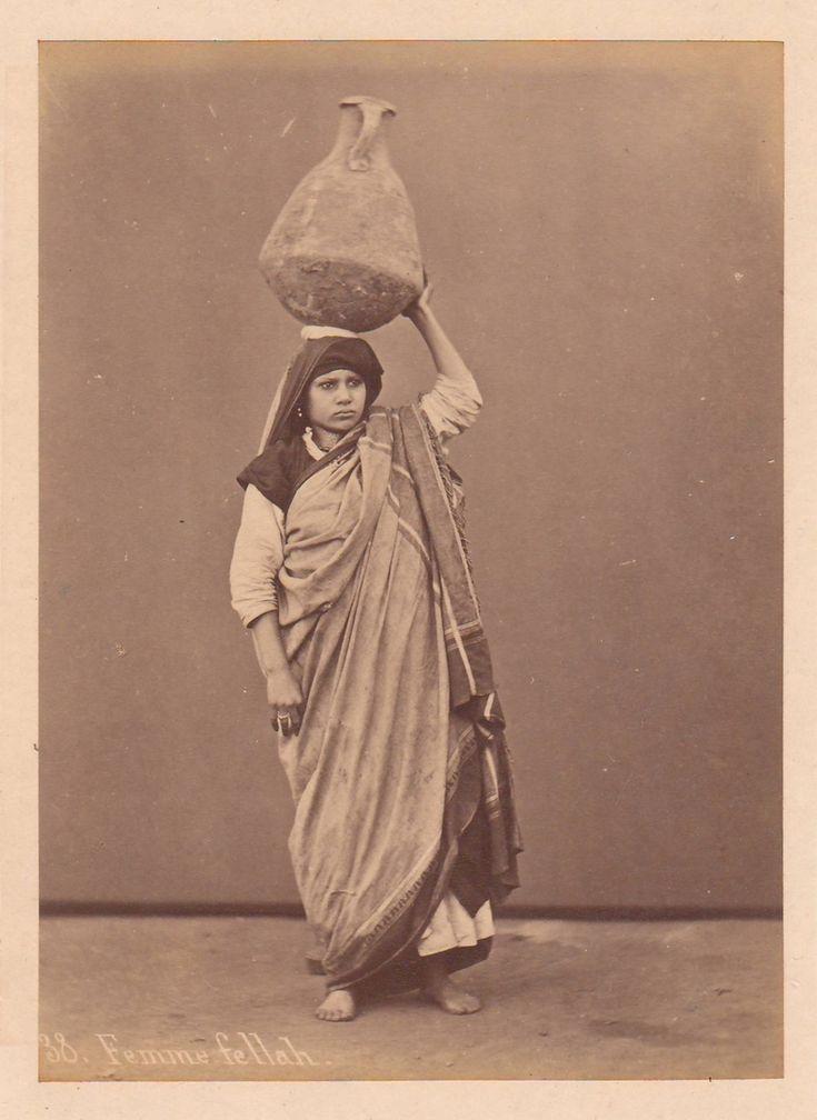 Sebah, Pascal - Femme fellah, no. 38 (Fellah woman), albumen print