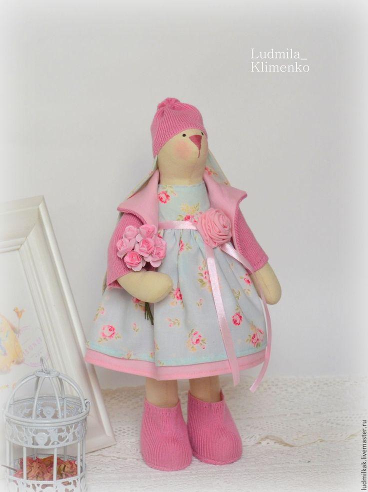 Купить Зайка в весенняя мята - мятный, заяц, заяц тильда, заяц игрушка, Заяц в подарок
