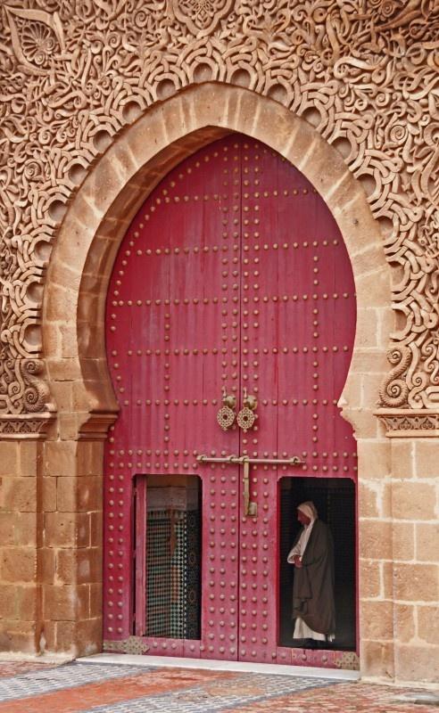 Pink and gold door