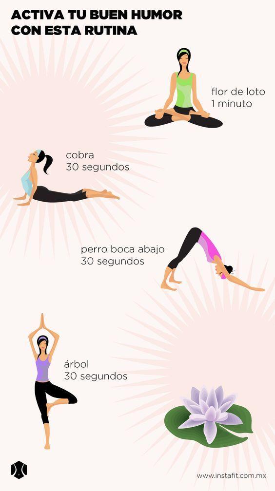 Rutina de yoga para activar tu buen humor.   Blog  :