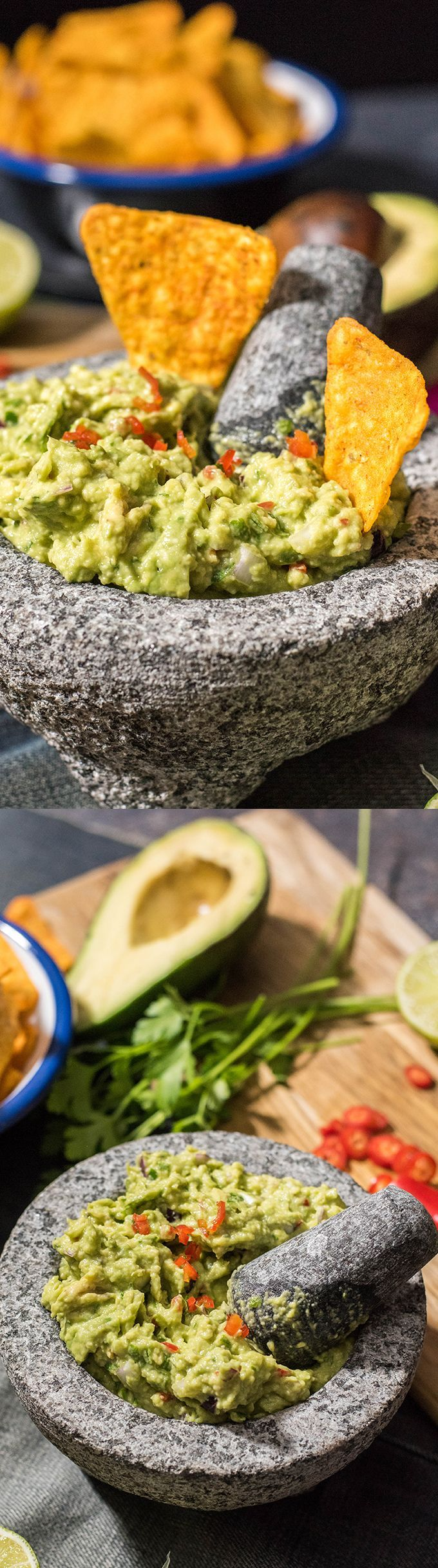 This is my best guacamole. You will love red chili pepper in it. Best movie night or game day treat ever!