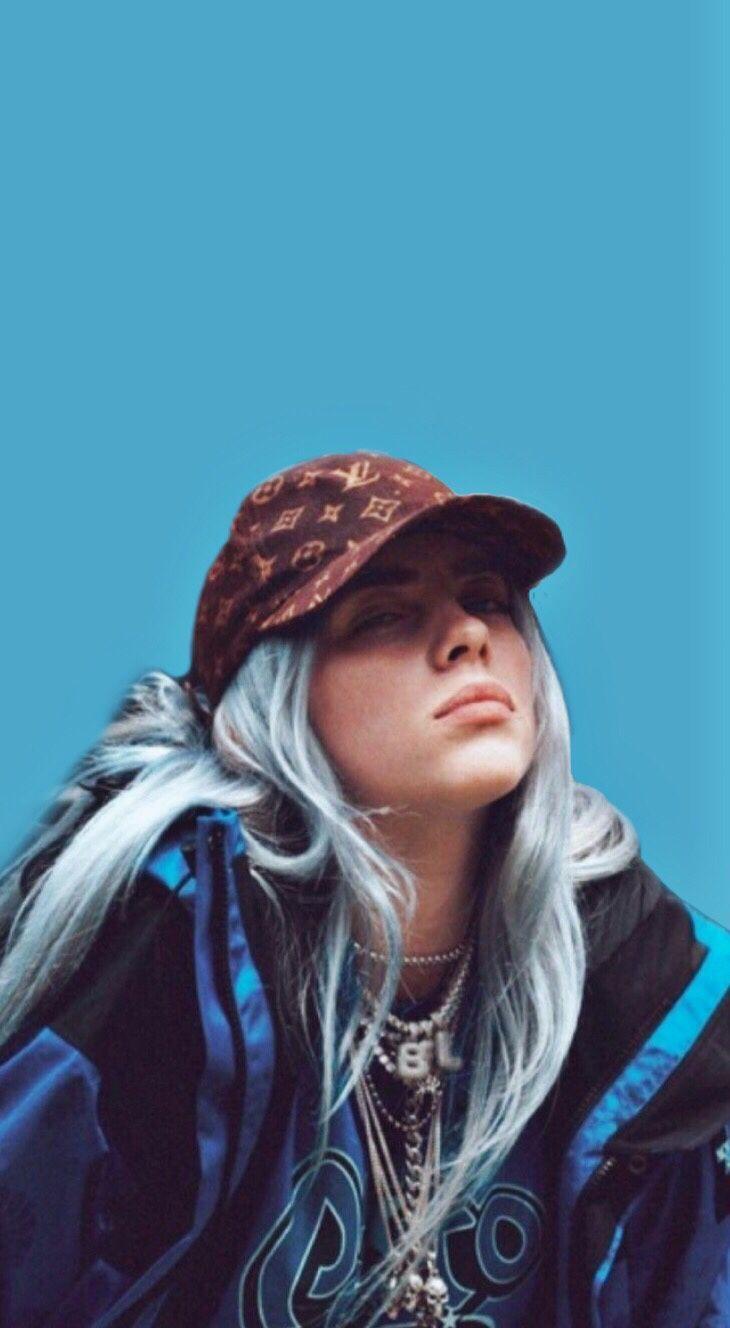 Billie Eilish Edit Blue Aesthetic Wallpaper In 2020 Billie Billie Eilish Celebrities