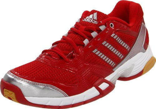 adidas Womens Opticourt VB 85 Volleyball ShoeUniversity RedMetallic SilverRunning White14 M US ** Be sure to check out this awesome product.