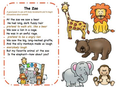 Songs, Poems and Finger Play for Toddlers
