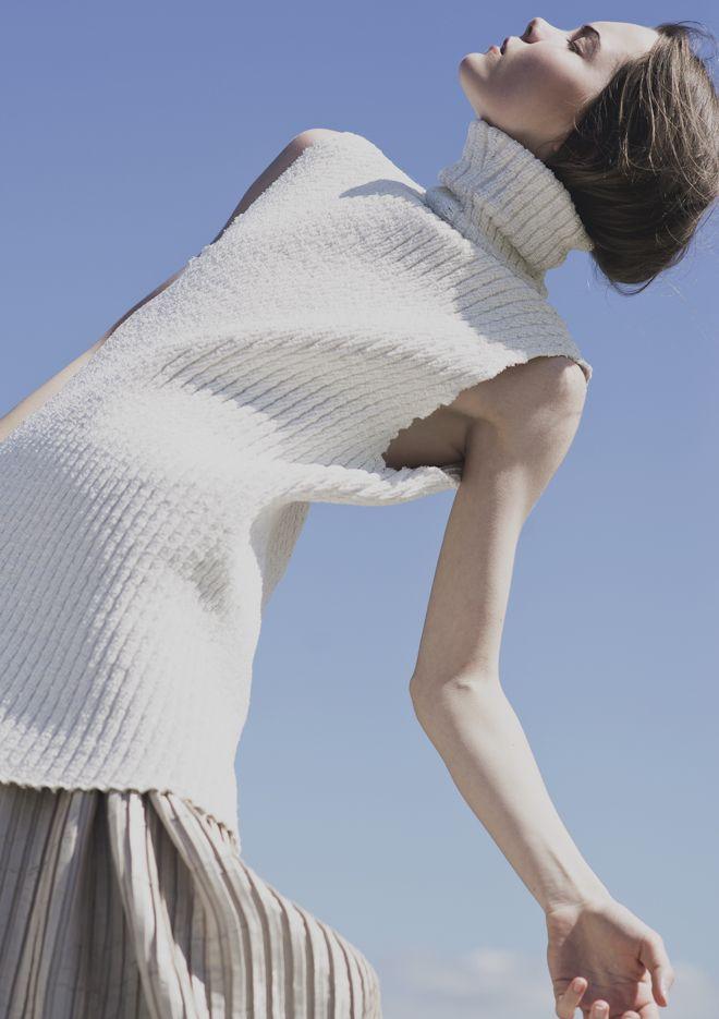 "Decorialab knitwear Studio www.decorialab.com — hautebasics:   ""Louder than words"". Photographed..."