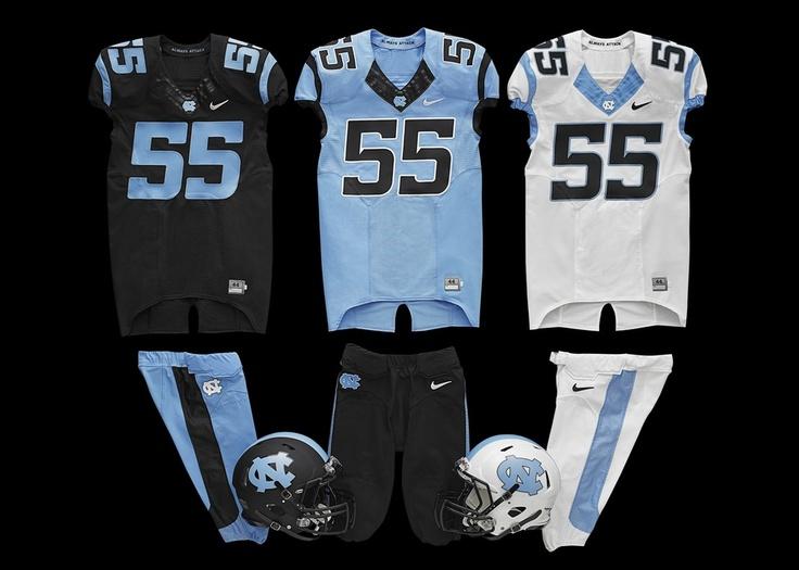 NIKE, Inc. - North Carolina Tar Heels football uniforms for 2013 - 2014 season
