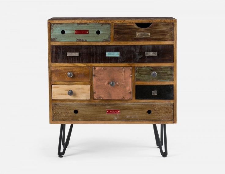 TACOMA - 9-Drawer chest - Multi colored
