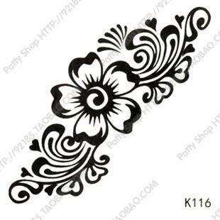 temporary-tattoo-sticker-freeshipping-waterproof-Women-flower-body-font-b-art-b-font-font-b-indian.jpg (310×310)