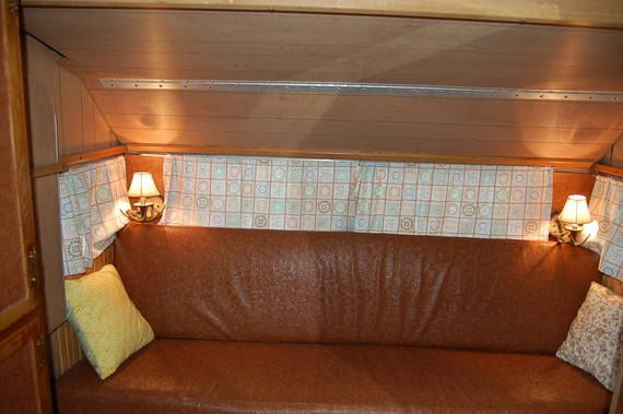 1969 Roadrunner work in Pictorial Vintage Trailer Renovations Forum--this shows a hinged bunk up.