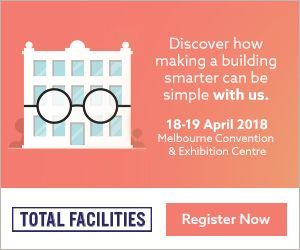 Come and see us at Stand D37! We're excited to exhibit at the nation's most prized event for facilities and likeminded professionals, Total Facilities 2018 when it returns to Melbourne from 18 – 19 April at the Melbourne Convention & Exhibition Centre (MCEC).        We believe that making a building smarter can be simple – you just need to know how!