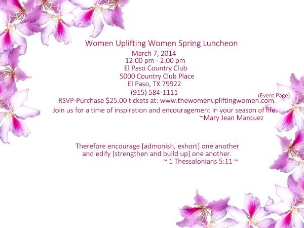 Direct Link to purchase tickets:  http://www.thewomenupliftingwomen.com/Upcoming-Events.html