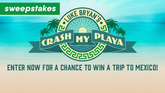 Luke Bryan Crash My Playa Fly Away Sweepstakes!
