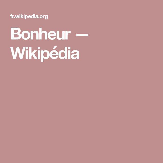 Bonheur — Wikipédia