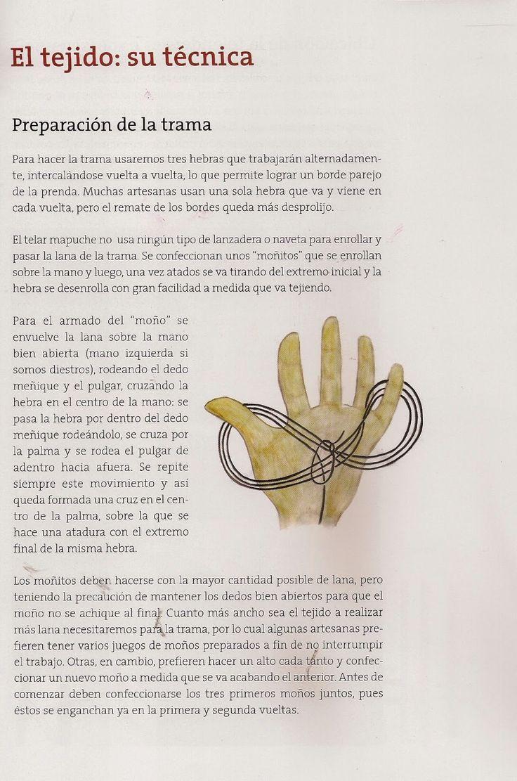 Taller de Ana María: TELAR MAPUCHE TECNICAS