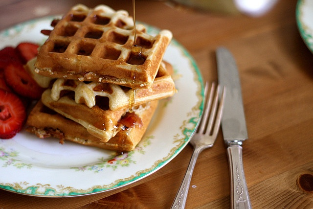 Brown Sugar Bacon Waffles - Just made these this morning, they were fantastic and the family loved them, even my picky sister ♥