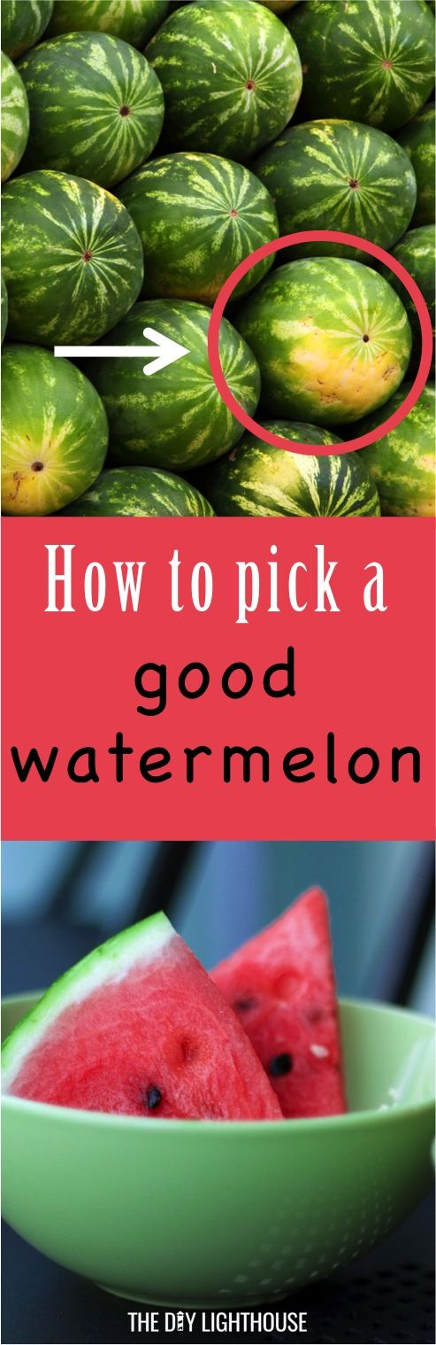 Ways on how to pick out a good watermelon | Tips and tricks for buying a sweet, juicy watermelon | How to tell when you have a good watermelon | Look, smell, and feel secrets
