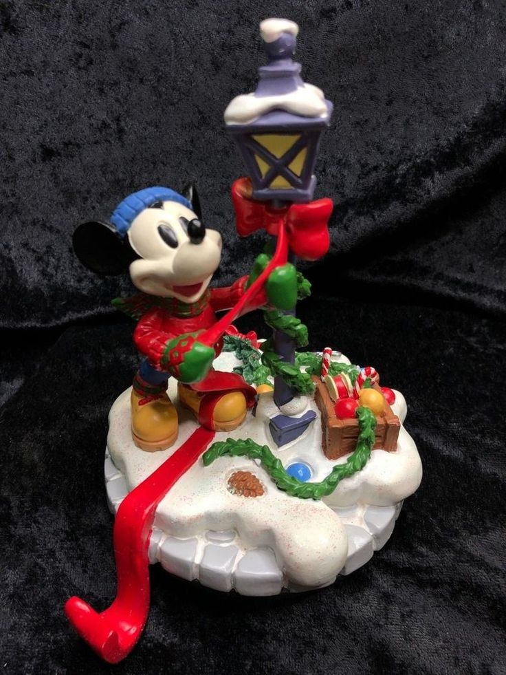 RARE Disney Christmas Mickey Fireplace Mantle Stocking ...