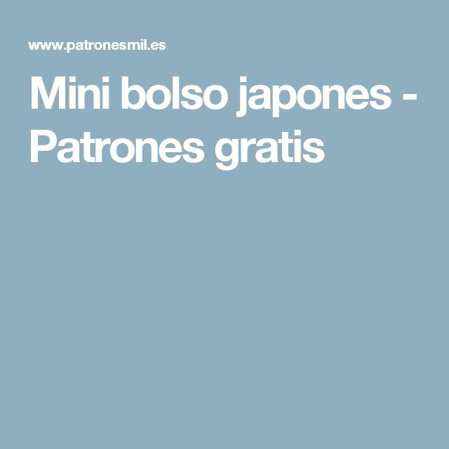 Mini bolso japones - Patrones gratis