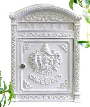 6 Mailbox by Ecco  This romantic aluminum mailbox, protected with a lock and adorned with a Victorian cherub motif, seems more deserving of handwritten love letters than junk mail and bills. Its rustproof finish is also a boon for exposed entrances. Available in six colors, including white (shown).      To buy: $119, ecco-products.com.
