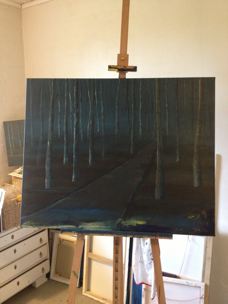 Working on a new painting... It is not don yet but I Think it get's great:)