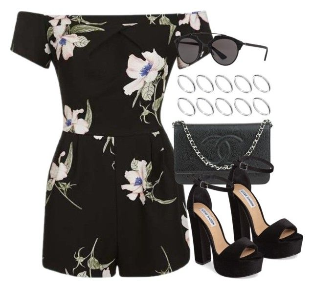 """""""Sin título #12420"""" by vany-alvarado ❤ liked on Polyvore featuring Topshop, Chanel, Steve Madden, Christian Dior and ASOS"""