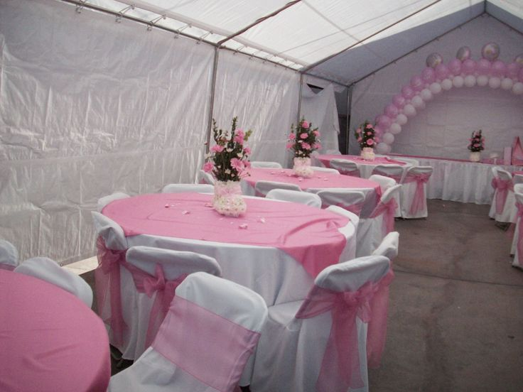 Awesome baby shower decorations with large tent pink and for Baby shower canopy decoration