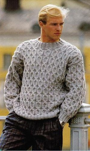 Men in cabled jumper