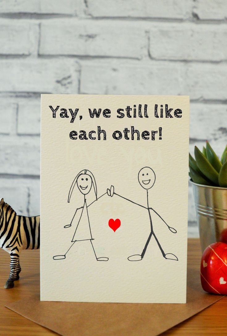 Funny anniversary card for him, funny anniversary card for her, funny valentines day card, first anniversary card, anniversary gift