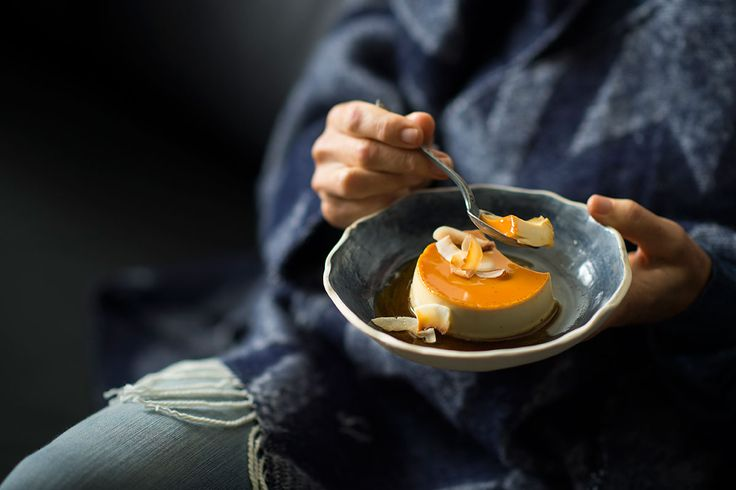 Vietnamese coconut crème caramel (kem flan)
