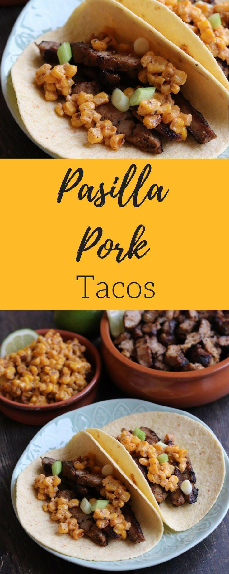Pasilla Pork Tacos