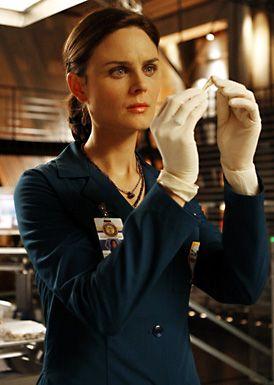 "Smarty-pants Temperance Brennan (Emily Deschanel) from ""Bones""."
