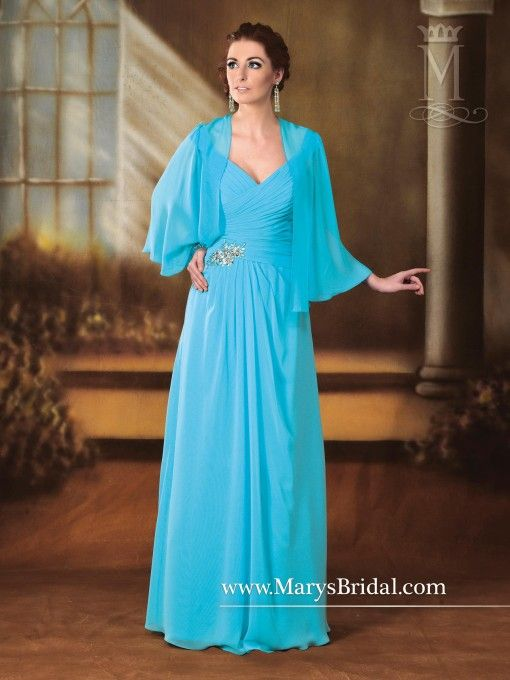 A-Line Chiffon Mother of the Bride Gown M2186