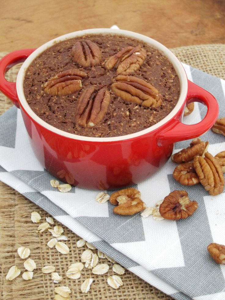 Chocolate Pecan Baked Oatmeal - The Oatmeal Artist