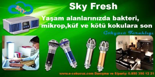 sky-fresh- koku giderici, sigara kokusu yok eder,otomobillerde istenmeyen kokuları yok eder, aroma terapi özellikli parfüm,