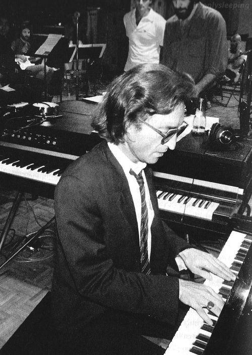 "John Lennon recording songs for Double Fantasy"" at The Hit Factory, 1980 Photo: Bob Gruen"