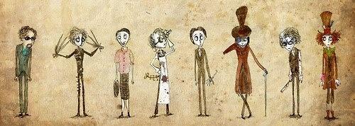 #tim #burton #johnny #depp #characters
